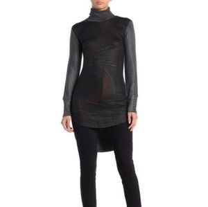 Go Couture Printed Turtleneck Tunic